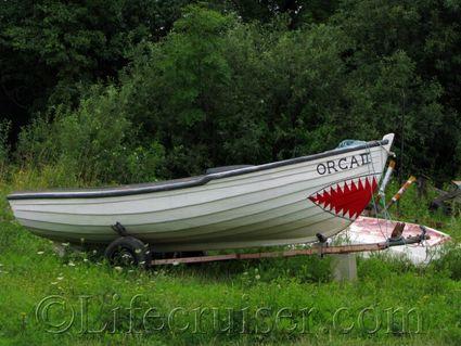 Faro shark boat. Gotland, Sweden