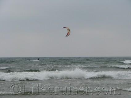 faro-sudersand-kite-surfer, Gotland, Sweden