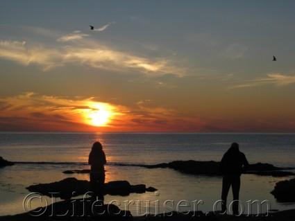 Fårö island sunset shadows