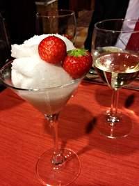 Helsinki, Finland: Katajanokka hotel restaurant Jailbird's champagnesorbet dessert