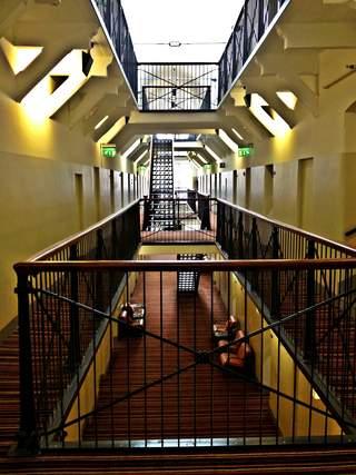 Finland: Katajanokka jail hotel hallway, Helsinki
