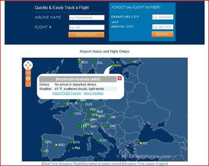 FlightAware flight tracker, useful travel tool