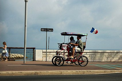 France, Cannes, 4-wheeled cycle