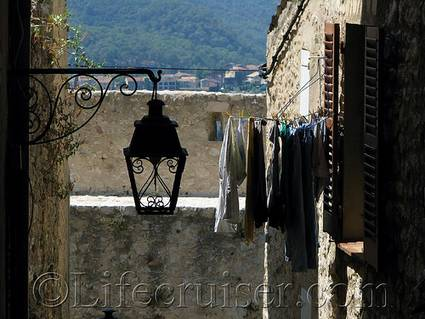 Clothes line dry view, France