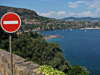 France French riviera one-way photo