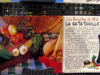 French food postcard: La Ratatouille Recipe