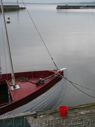 gotland-boat-red-details, Baltic Sea, Sweden