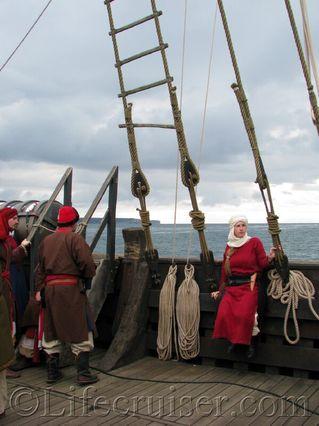 gotland-cog-ship-medieval-dress, Sweden