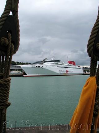 gotland-ferry-seaside, Visby harbor, Sweden