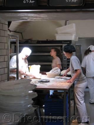 Rute stenugnsbageri bakers, Gotland, Sweden