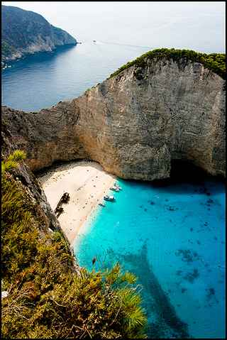 Greek Island Zakynthos or Zante: Navagio Beach, The Shipwreck beach