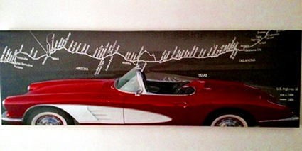 Lifecruiser cab US coast line of Highway 66 painting