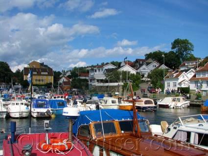 Drobak harbor, Norway
