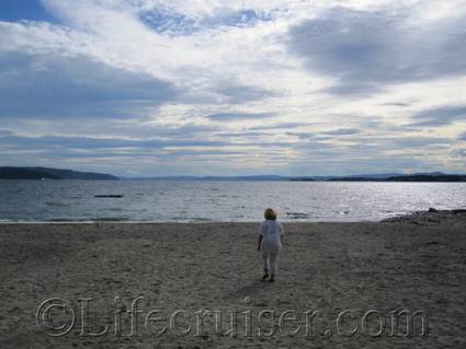 Paradisbukta beach, Bygdo peninsula, Norway