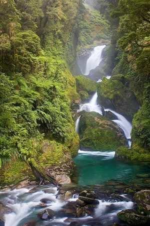 NZ: Fiordland national park, Mackay falls