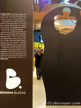 Sweden: Bromma Blocks Shopping Mall Wall Mirror