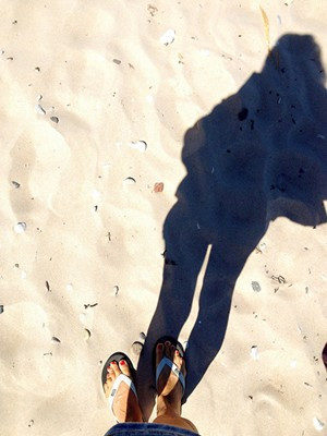 Sweden, Fårö: Norsta Auren beach shadow