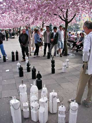 Sweden Photo: The Kings Garden Chess players, Stockholm City