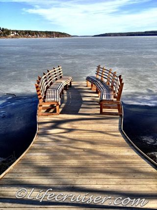 Sigtuna sea view benches, Sweden