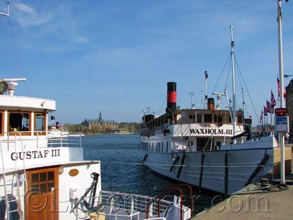 Stockholm archipelago boats Waxholm and Gustaf III, Sweden