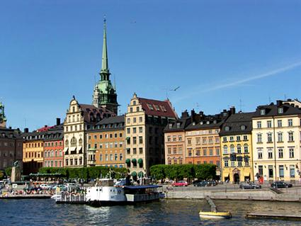 Sweden, Stockholm Old Town Waterfront