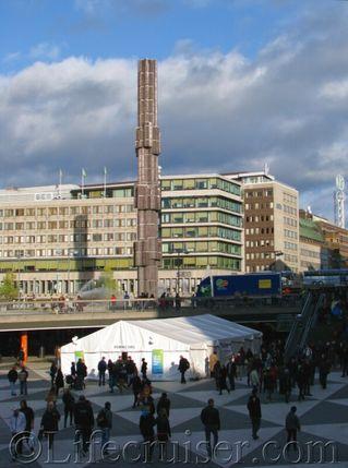 Stockholm Sergels torg (square) and superellipse, Sweden