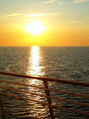 Silja Symphony cruise deck sunset