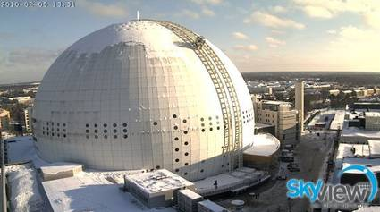 SkyView attraction premiere, Stockholm Globe Arena, Sweden. Copyright Globe Arenas.
