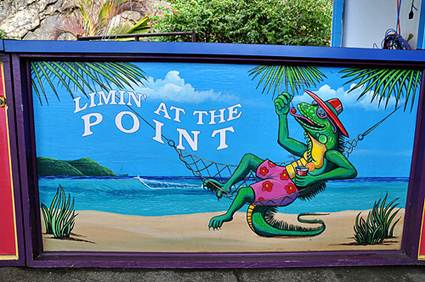 St Thomas Island: Paradise Point Sign