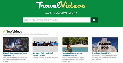 Travel Videos Screen